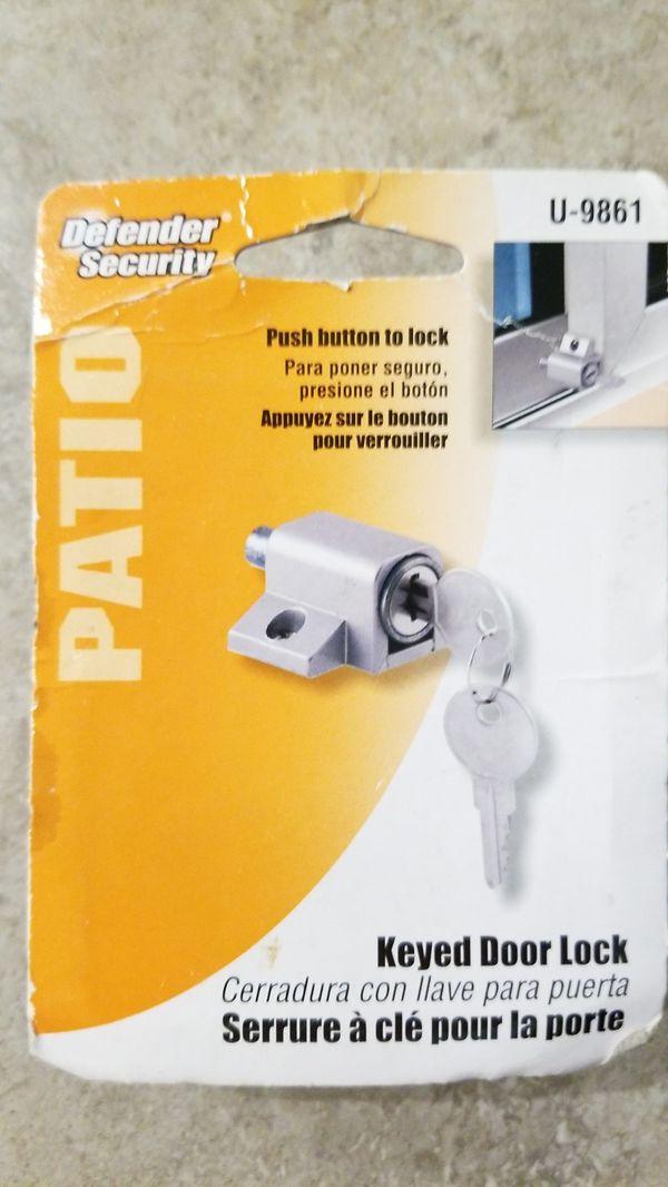 Defender security keyed door lock for patio or slider door