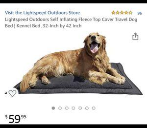 New Lightspeed Self inflating fleece travel bed crate kennel bedroom 42 x 32 for Sale in Phoenix, AZ