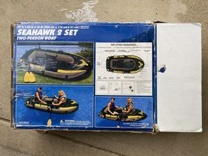 Seahawk 2 Person Inflatable Boat and Paddle for Sale in Winfield, IL