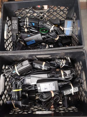 $25 each we have 2 Crates of Original Laptop Chargers Windows & Macbook for Sale in Chula Vista, CA