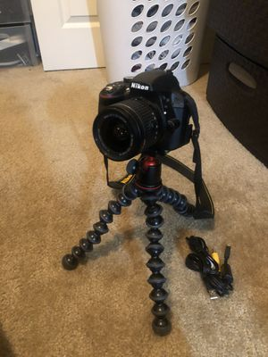 Nikon D3300 AF-P DX Nikkor 18-55mm lense for Sale in Clovis, CA