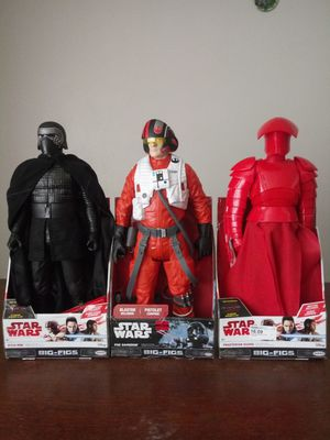 "Star Wars, Big-Figs. Each $16 (hight 18"") for Sale in Sioux Falls, SD"