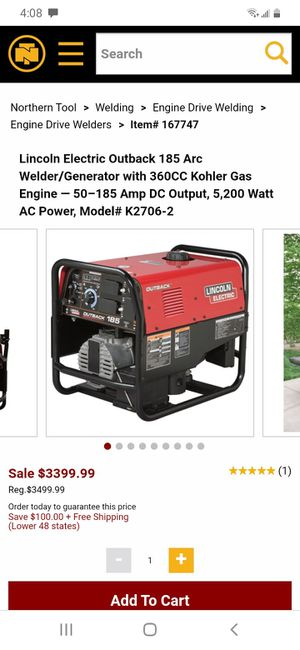 Lincoln welder and generator for Sale in Bakersfield, CA