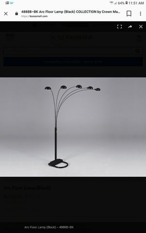 Black floor lamp for Sale in Bedford Heights, OH