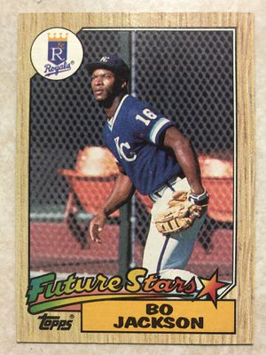 Bo Jackson Future Stars 170 for the Royals 1987 Topps Baseball Card Old Vintage for Sale in San Jose, CA