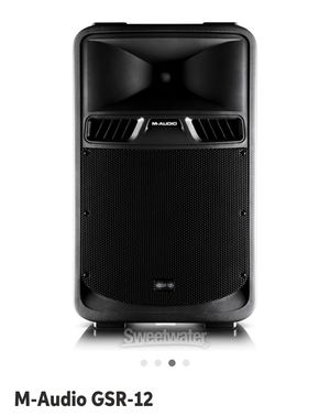 2 M-AUDIO GSR12 speakers with stand for each one for Sale in San Luis Obispo, CA