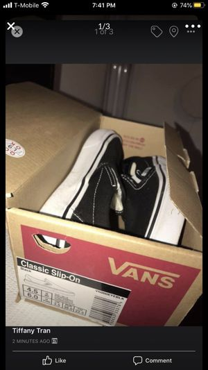 Vans Black Slip On (4.5 Men/ 6.0 Women) for Sale in San Jose, CA