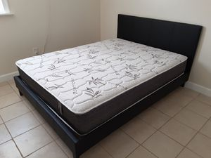 NEW QUEEN PLATFORM BED FRAME WITH MATTRESS INCLUDED for Sale in Lake Worth, FL