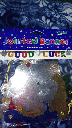 Good luck banner/ 1 jointed banner 4ft. for Sale in Corona, CA