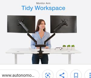 New Autonomous A139 dual monitor arm black Hollywood or shipping for Sale in Pembroke Park, FL