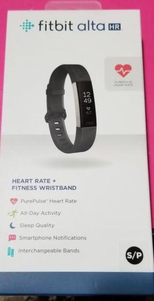 Brand New - Fitbit Alta HR -small black color for Sale in Murray, UT