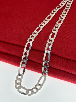 Men/ Fígaro/ 925 Sterling Silver Chain/ 24 Inches/ 8 mm for Sale in Whittier, CA