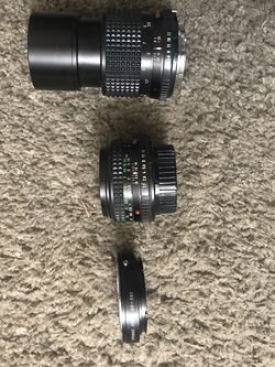 Minolta MD Mount Lenses With Canon Ef Adapter for Sale in Sacramento,  CA