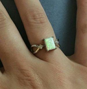 Size 4-12 Genuine Sterling Silver Opal Ring for Sale in Wichita, KS
