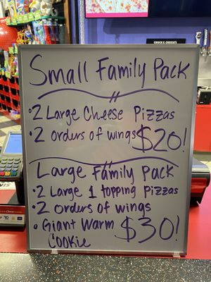 Chuck E. Cheese lunch and dinner deals! for Sale in Oceanside, CA