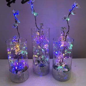 Silk Flowers Glass Vase Led Lights for Sale in Herndon, VA
