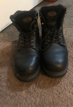 Dr. Schools Steel Toe Work Boots / Size: 10.5/ Gel Insoles for Sale in Fresno, CA