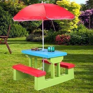 Kids Plastic Picnic Table With Umbrella for Sale in Beverly Hills, CA