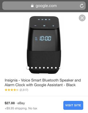 Google Assisant Home with Clock by Insignia Voice for Sale in Los Angeles, CA