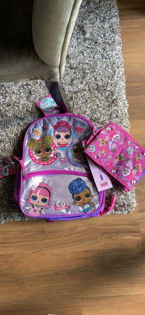 New LOL surprise 5 piece set girls Bookbag Backpack for Sale in Alexandria, VA