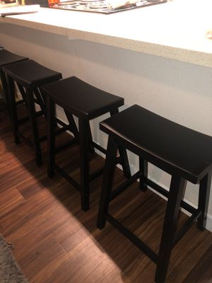 Set of 4 black bar stools for Sale in Vacaville, CA