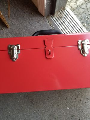 Red metal tool box for Sale in Fremont, CA