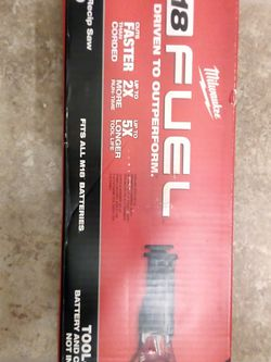 Milwaukee M18 Fuel Brushless Cordless Sawzall Reciprocating Saw Tool Only for Sale in Las Vegas,  NV
