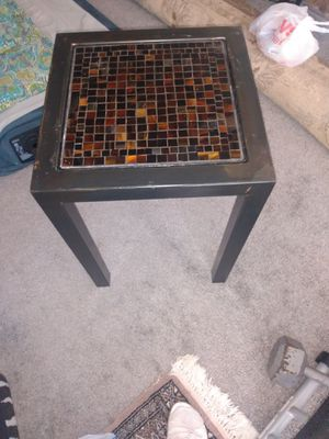 "Heavy metal plant stand tiled top 15x15 22"" H for Sale in Alexandria, VA"