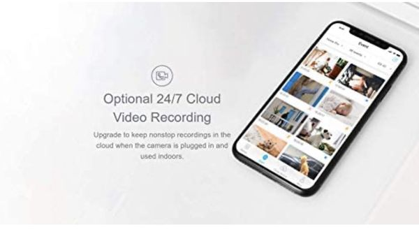 Home Security Camera with App, blurams WiFi Camera Baby Monitor with Two-Way Audio, Night Vision, Motion Detection, Instant Alerts, Cloud Available, W