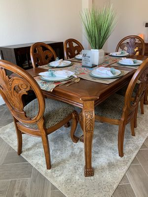 7 Pc Solid Wood Dining Room Set for Sale in Cypress, TX