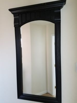 Solid Wood Mirror - Black for Sale in Chandler, AZ