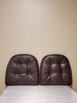 """NEW!! """"Gripper"""" Non-Slip Faux Leather Tufted Chair Cushions (2) for Sale in Arlington, VA"""