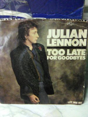 Julian Lennon too late for goodbyes 45 rpm for Sale in Buena Park, CA