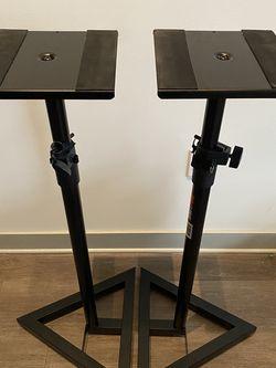 Proline Adjustable Studio Monitor Stands - Black (pair) for Sale in Nashville,  TN