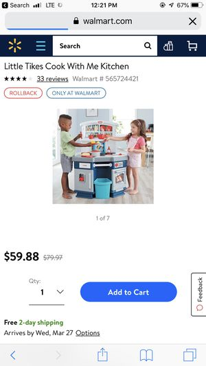 Little tikes cook with me kitchen for Sale in Payson, AZ