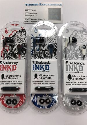 Skullcandy Ink'd Headphones w mic & remote for Sale in Pittsburgh, PA
