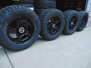 New LT 305 60 18 Kenda MT Tires & Vision Matte Black Rims FORD *6X135* for Sale in Aurora, CO
