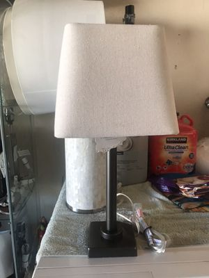 🌻🌻$28 NEW PEWTER TEXTILE SHADE LAMP for Sale in Fontana, CA