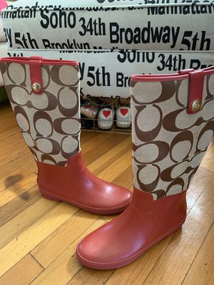 Coach rain boots Sz. 9 for Sale in Newport News, VA
