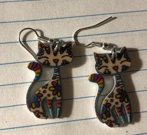 Cute Bonsai Cat Earrings for Sale in Parkville, MD