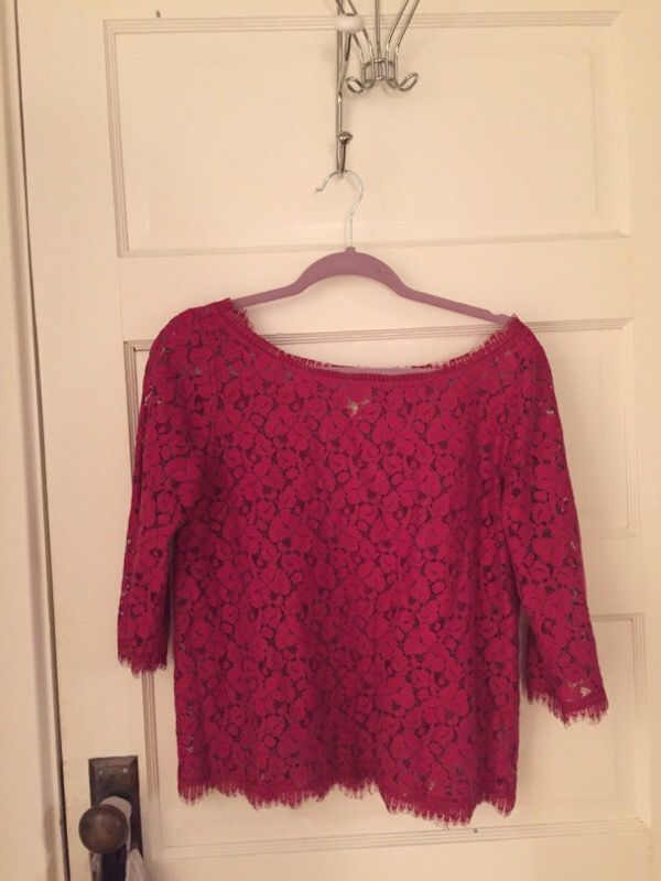 Super cute pink lace top from Anthropolgie
