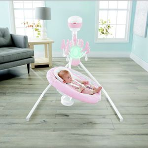 Fisher-Price Cradle 'n Swing, Pink Pearl Chandelier for Sale in Milltown, NJ