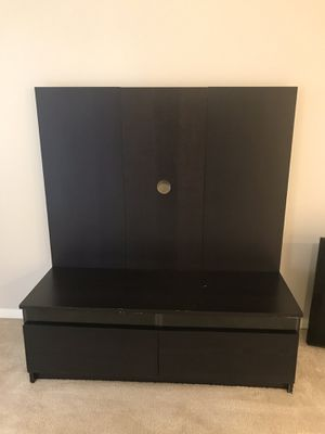 IKEA TV STAND (Black-Brown) for Sale in Silver Spring, MD