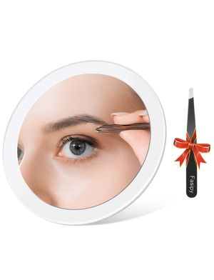 Premium Makeup Mirror with Tweezers - 15X Magnifying Mirror for Blackhead Removal - Transparent Round Vanity Mirror with 3 Suction Cups (6 Inches) for Sale in San Diego, CA