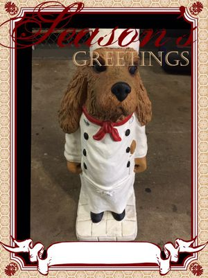 Chef Dog Statue 2Ft Collectible Vintage Great Gift for Sale in Thonotosassa, FL