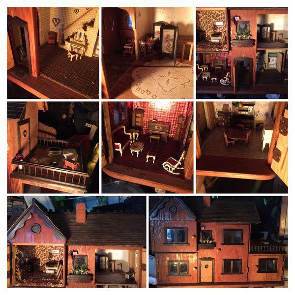 Handmade Antique Dollhouse