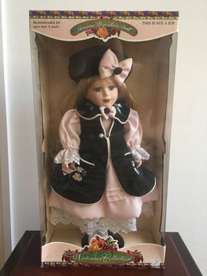 """19"""" tall genuine porcelain doll - victorian collection- new in box for Sale in Hobe Sound, FL"""