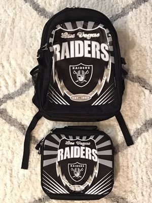 Raiders Kids BackPack and Lunch Bag for Sale in Las Vegas, NV