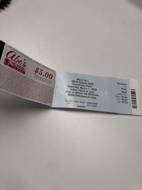 Wild Splash Tickets