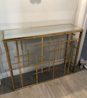 Gold rustic mirror table for Sale in Los Angeles, CA